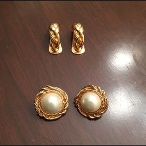 New vintage stamped Alfred Sung clip on earrings